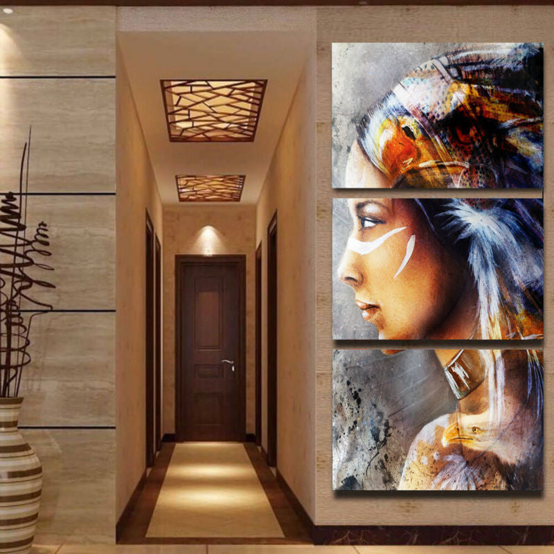 Native Feathered Canvas Art