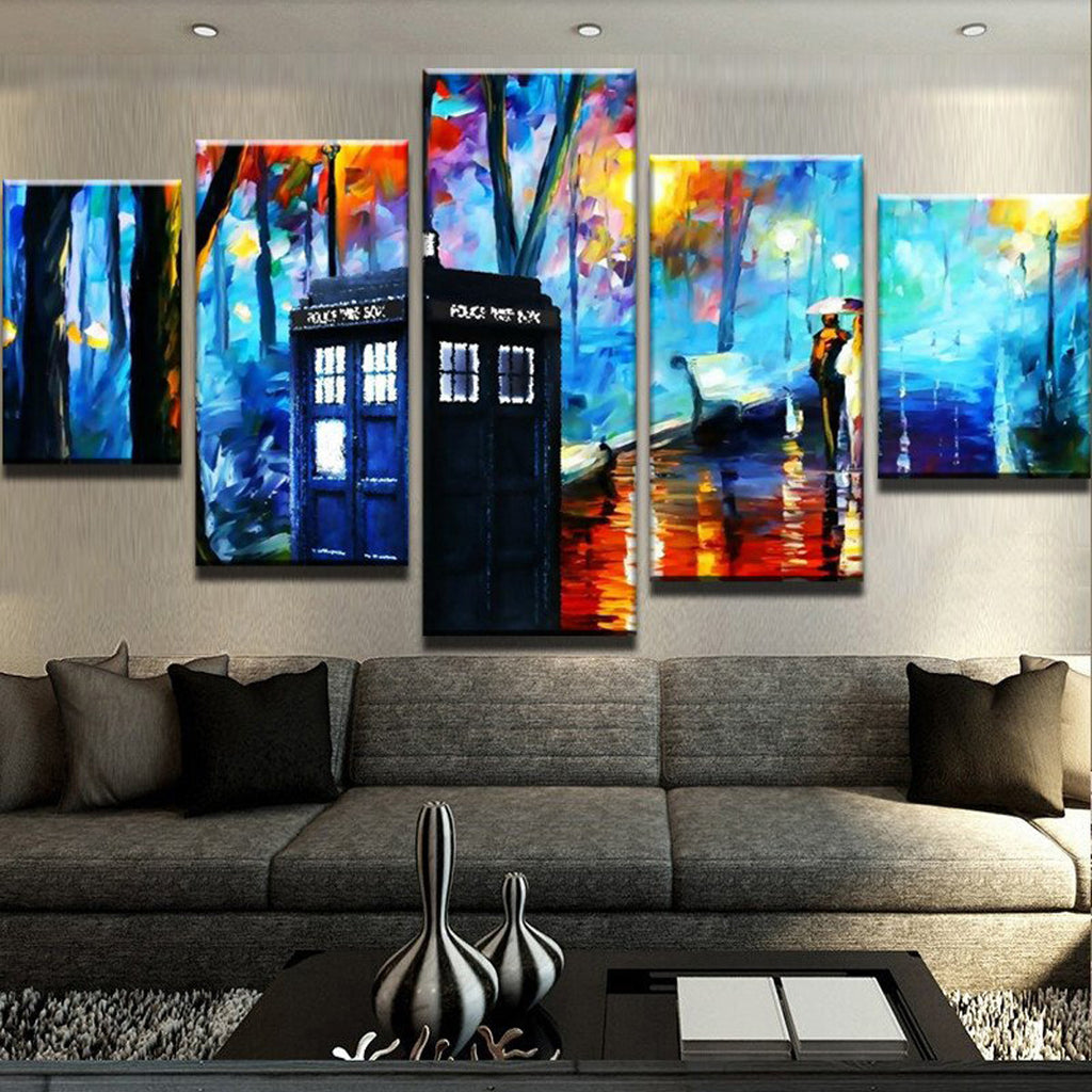 Dr. Who Meets Bansky Canvas Art