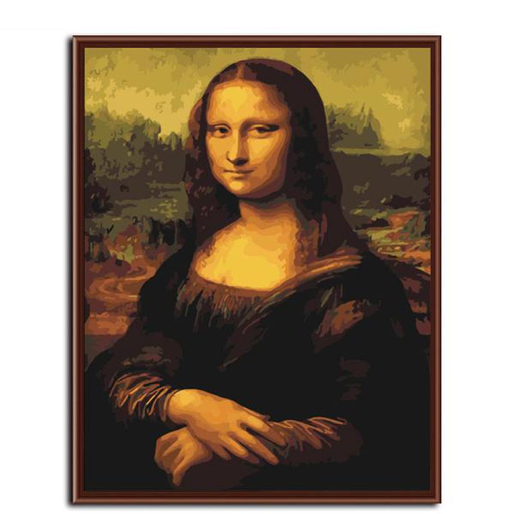 Mona Lisa Portrait-Paint by Numbers Kit