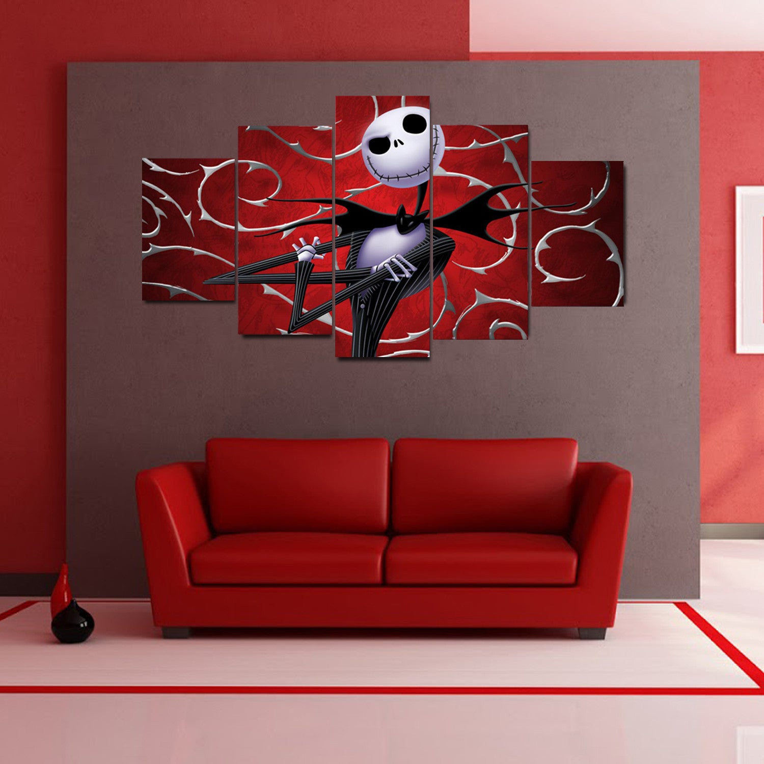The Nightmare Before Christmas Modern Canvas Wall Art - Anjuna Lane