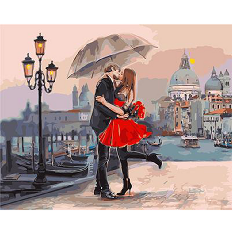 Romantic Kiss- Paint by Numbers Kit