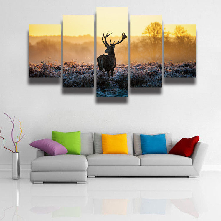 Wild Deer Animal Canvas Wall Art