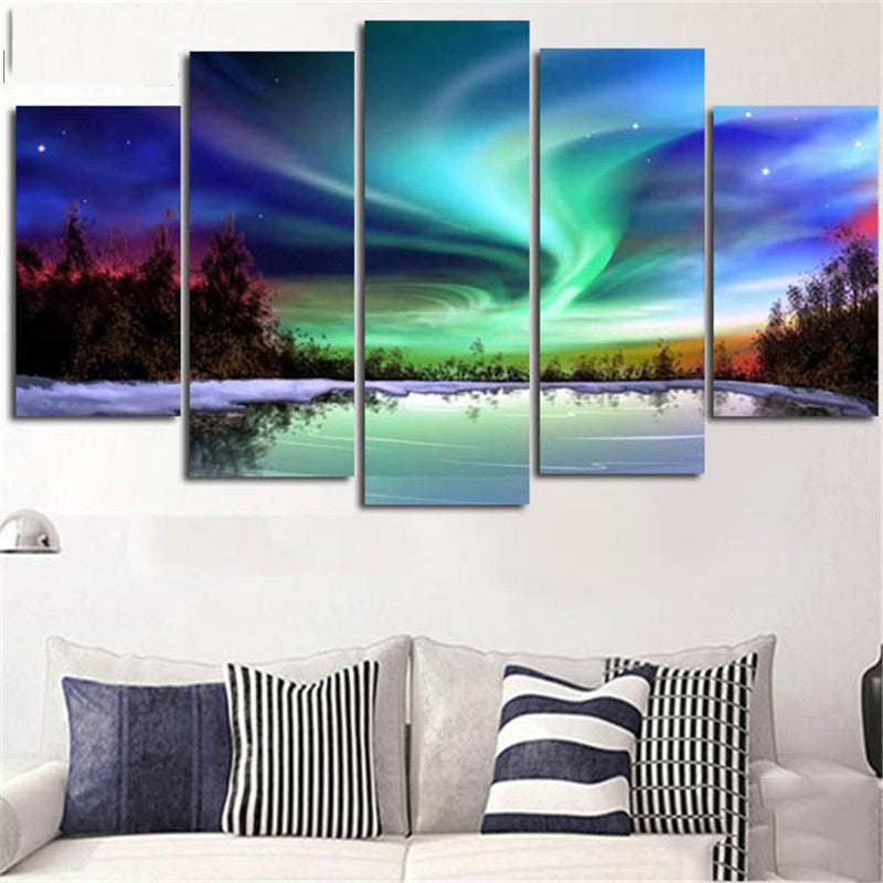 Aurora Northern Lights Canvas Art