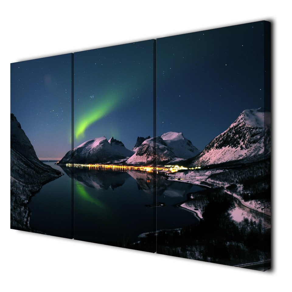 Aurora Borealis 3 Panel Wall Art