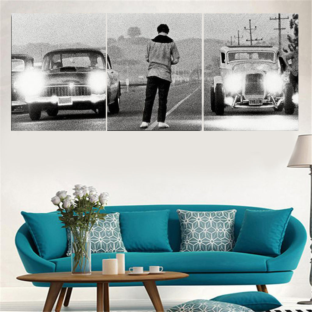 Vintage Cars Race Canvas Art