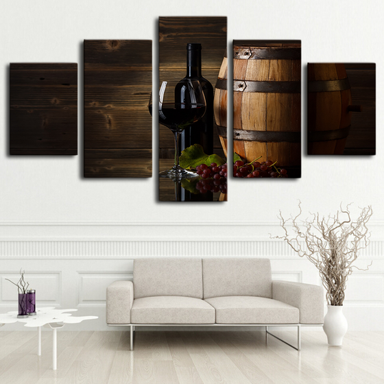 Barrel Wine Modern Canvas Art