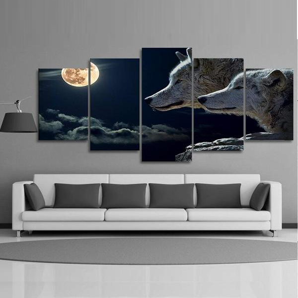 The Night Wolf Canvas Art