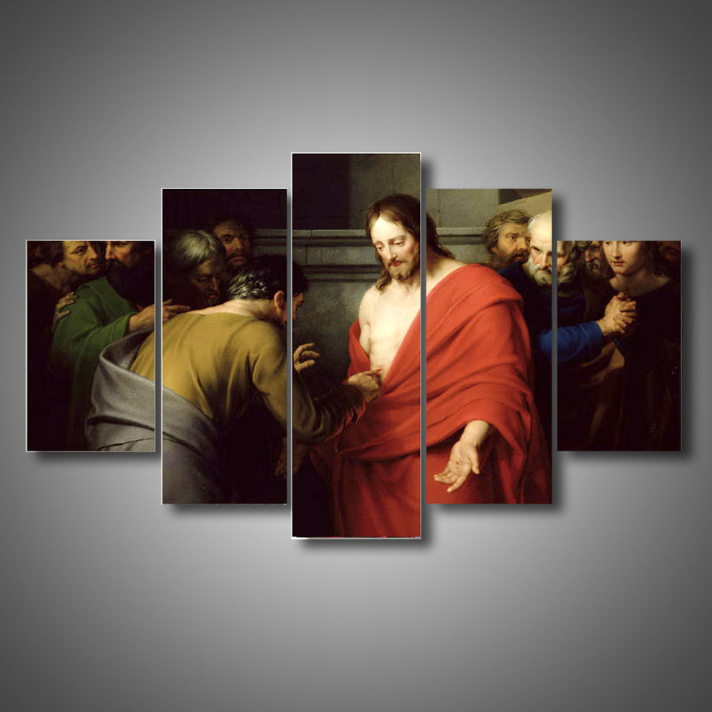 Jesus Resurrection Group Painting Decor Canvas Wall Art