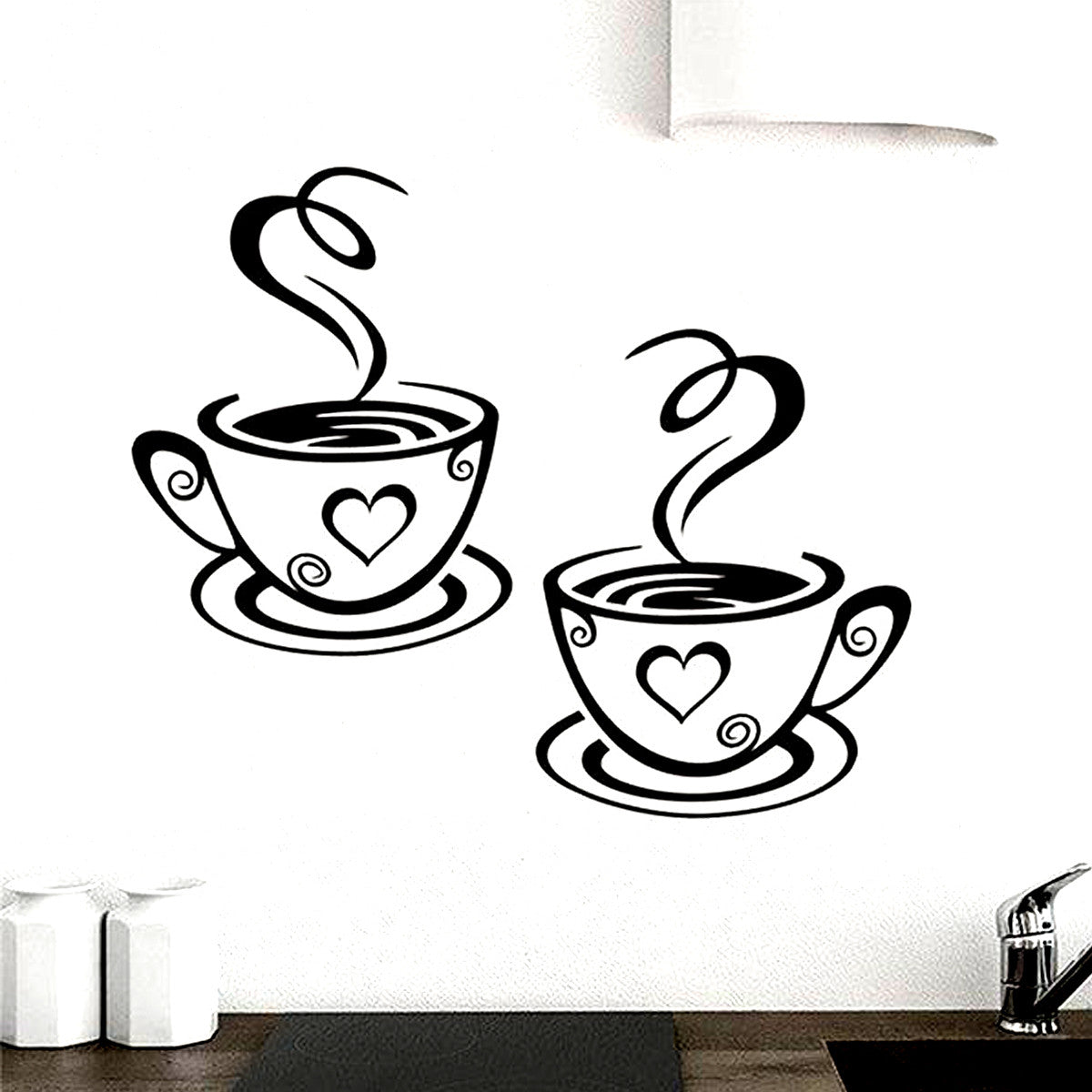 Wall decals anjuna lane coffee cups wall art vinyl decal decor amipublicfo Images