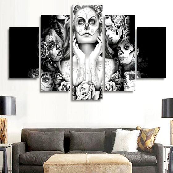 Day Of The Dead Canvas Wall Art