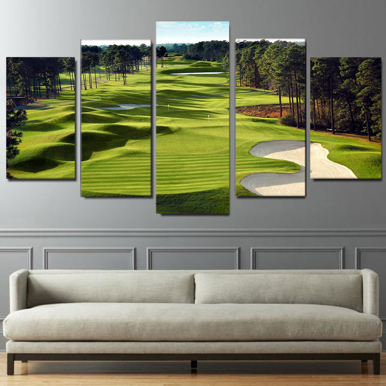 Golf Course Canvas Wall Art
