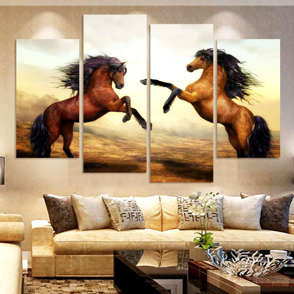 Running Horses Canvas Wall Art