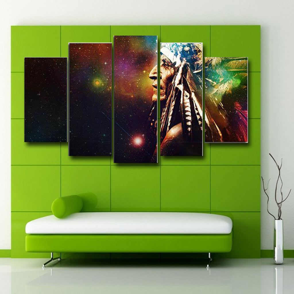 Indian And stars Canvas Art