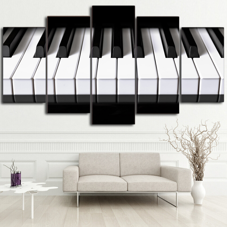 Piano Keys Canvas Wall Art