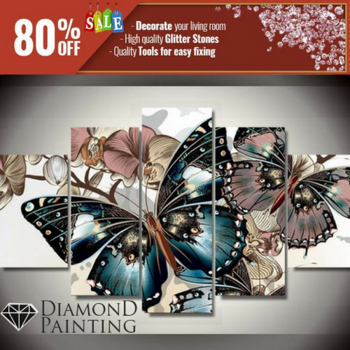 XXXL - THE BUTTERFLY - DIAMOND PAINTING