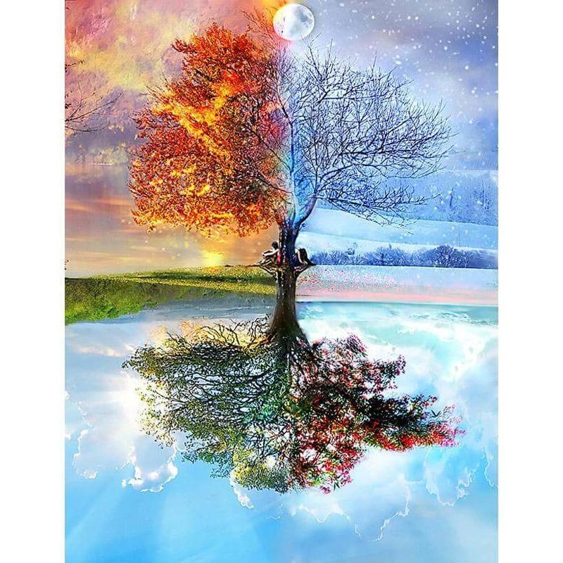 5D Diamond Painting Kit 4 Seasons