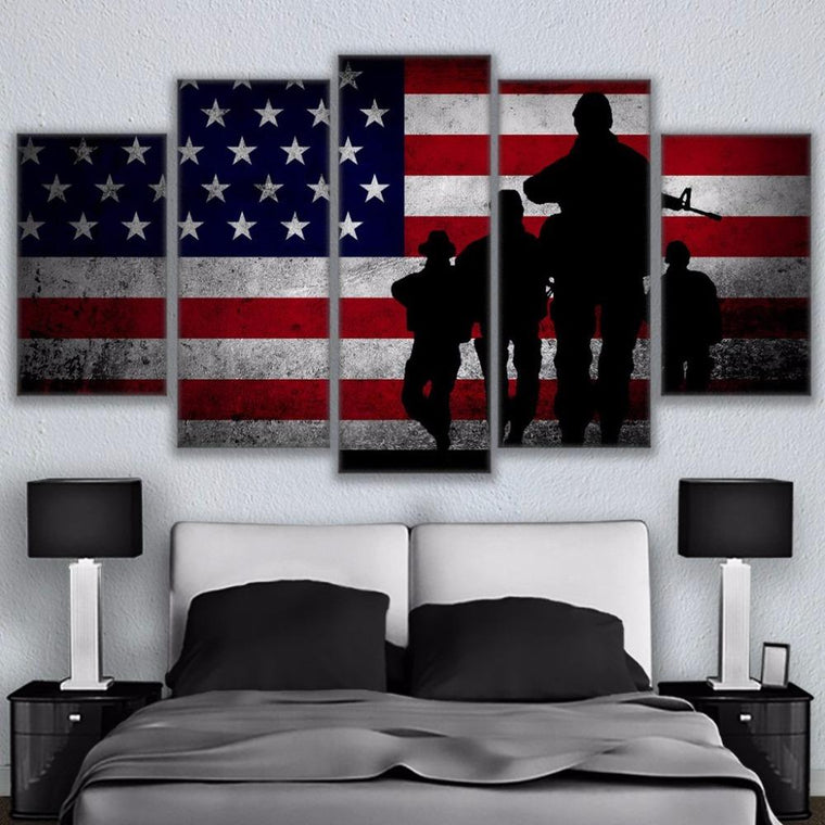 American Flag Canvas Wall Art