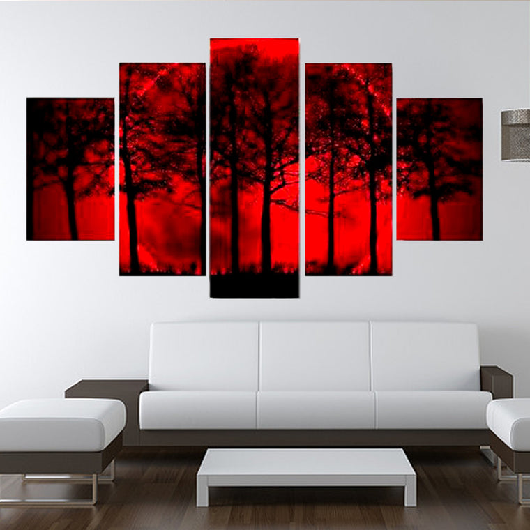 Blood Moon Sky Multiple Panel Canvas Art
