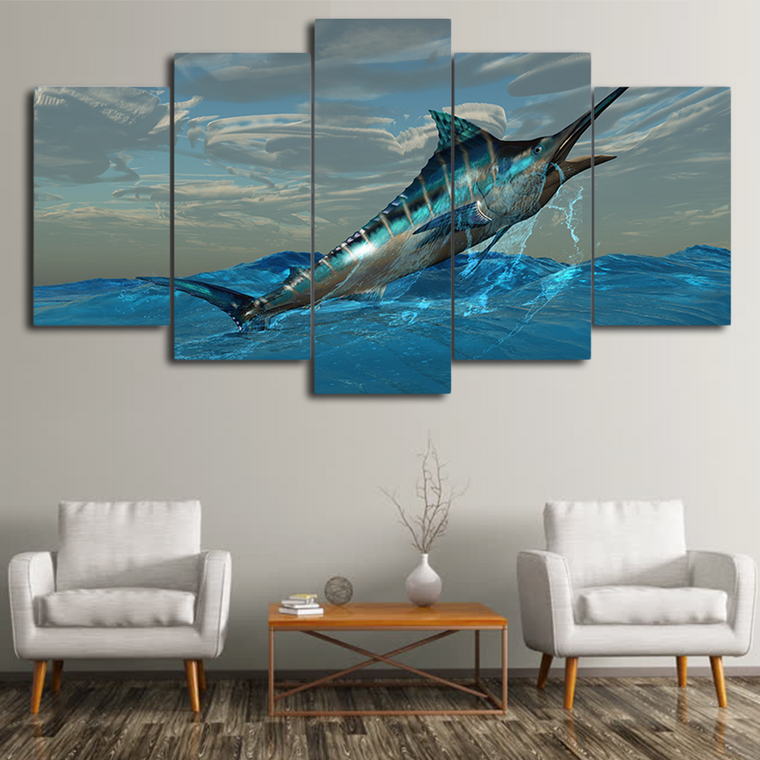 Limited Edition Swordfish Canvas Art