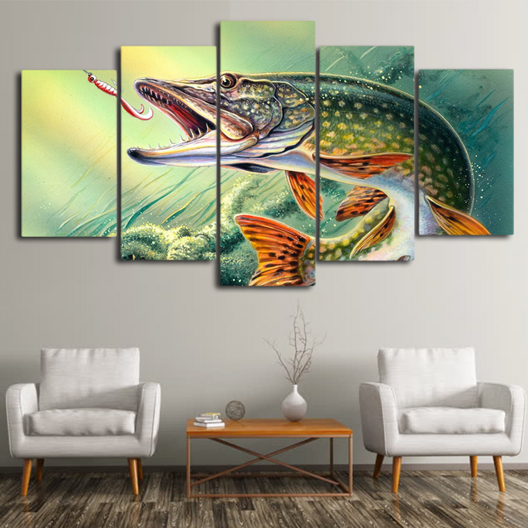 Northern Pike Fish Canvas Art