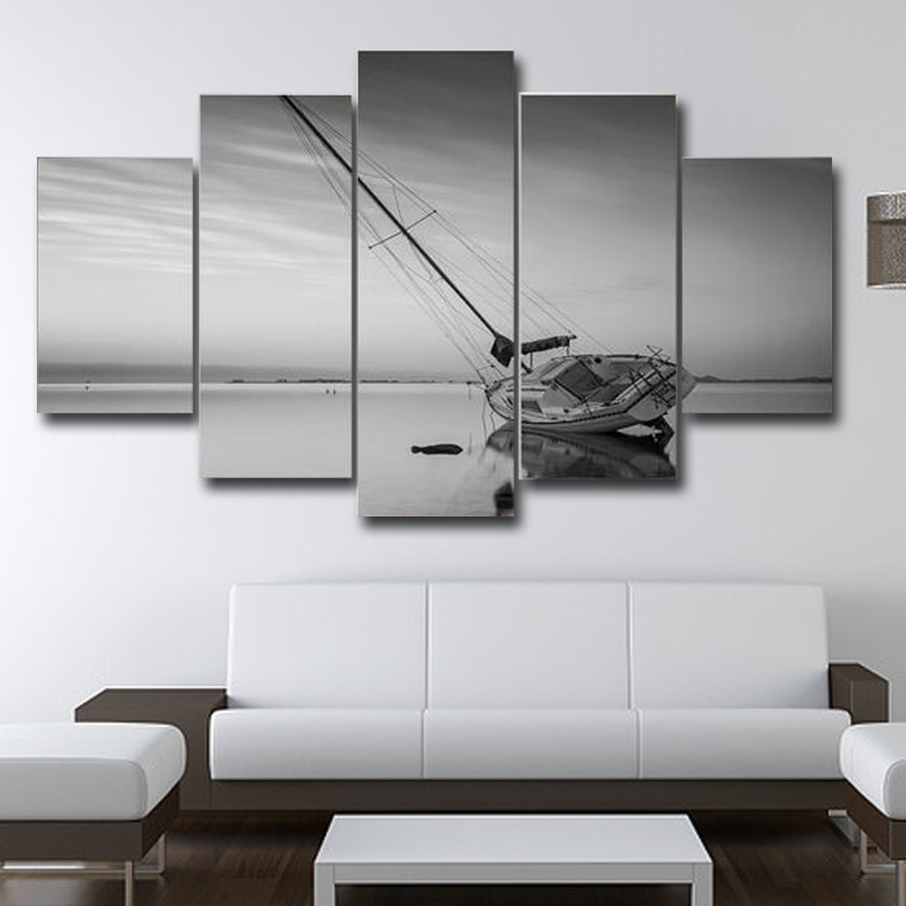 The Ship Ran Aground Wall Art