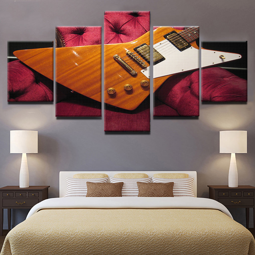 Electric Guitar Canvas Art