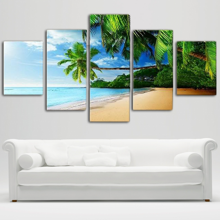 Tropical Sea-view Canvas Art