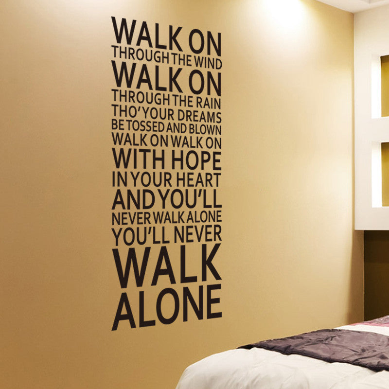 You'll Never Walk Alone - Liverpool Song Lyrics Wall Decal