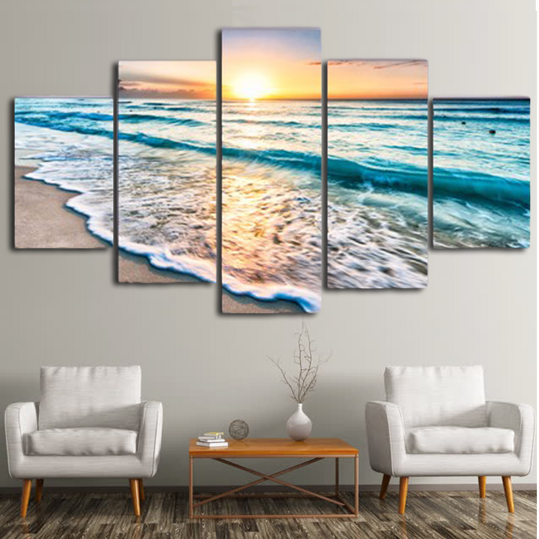 Beach Waves Canvas Art