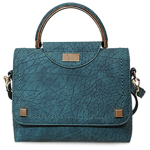 Fashionable Women's Tote Bag With Cover and PU Leather Design   Green