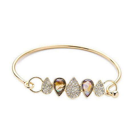 Chic Alloy Water Drop Bracelet For Women   Golden