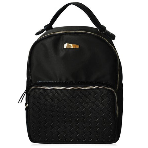 Casual Women's Backpack With Woven and Nylon Design