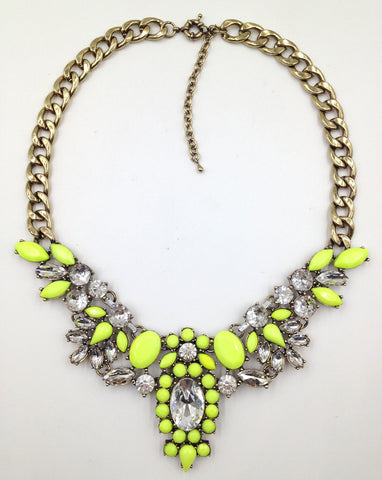 Chain Chunky Crystal Pendant Rhinestone Choker Statement Necklaces