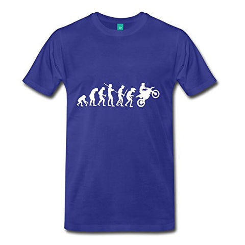 Rider Evolution T Shirt Motorcycle Graphic Premium Cotton Crew Neck Short Sleeve Solid Color for Men