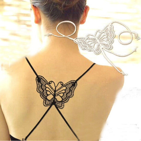 Women Bra Strap for Backless dress Skid-proof shoulder strap invisible belt sexy - bra straps butterfly shape