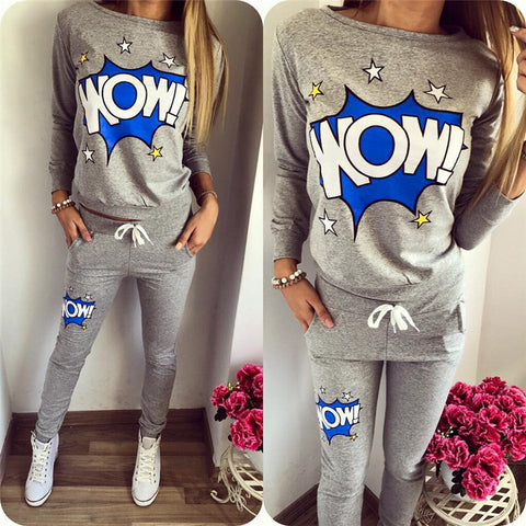 Full tracksuit womens jogger track pants and Hoodie Sweatshirt jogging suits top and bottom WOW
