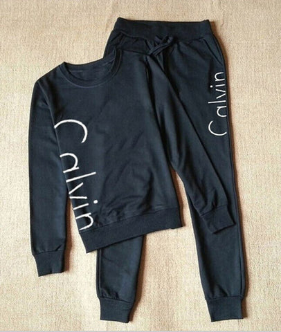 Calvin 2PCS full tracksuit - jogger pants and pullover - fitness suit for woman
