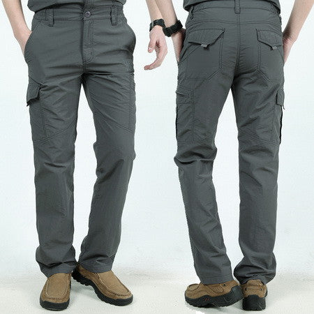 Men Worker Hardwearing Combat Track Pants Light-Weight Trade Cargo Trousers Navy Pack