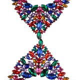 Chunky Chain Maxi Long Body Crystal Gem Statement Necklace For Women