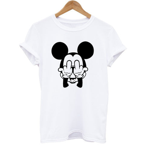 Unisex Cotton T Shirt Funny Disney Tops and Tees Design Mickey Cartoon Vintage