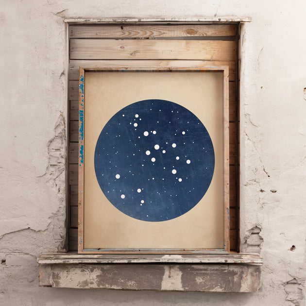 Blue Zodiac Constellation Print - Pick Your Sign