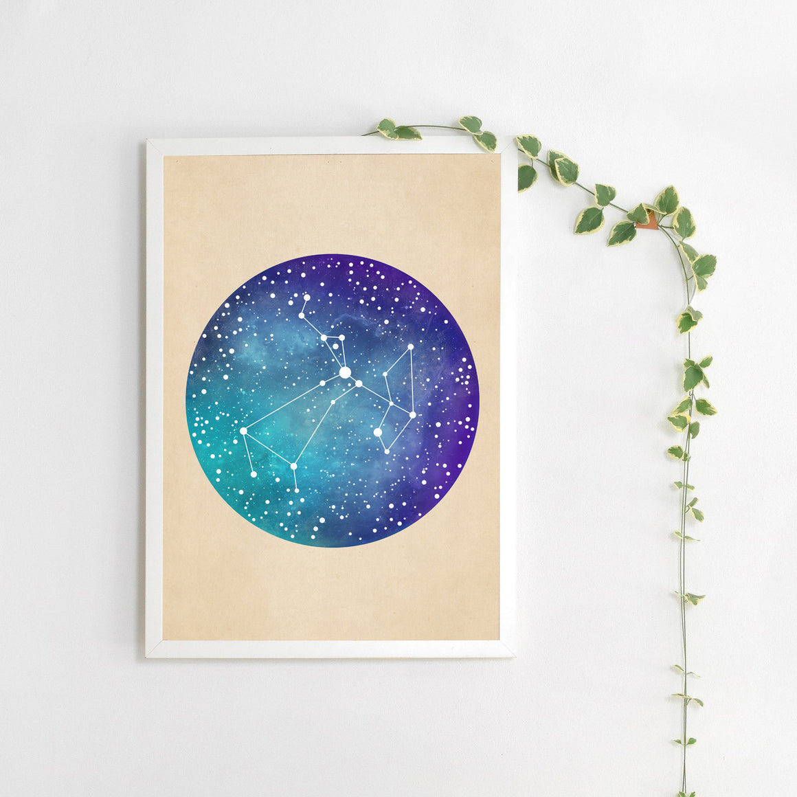 Blue & Purple Constellation Print