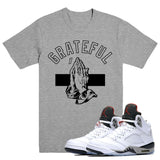 GRATEFUL- White Cement 5 - DapperSam Clothing sneaker match tee