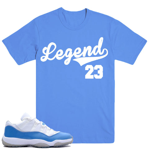LEGEND- COLUMBIA BLUE 11's - DapperSam Clothing sneaker match tee
