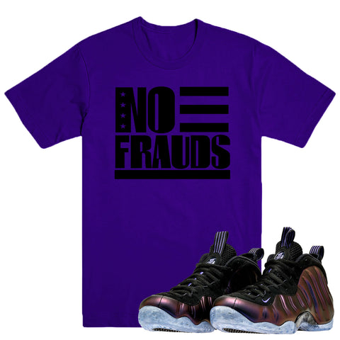 NO FRAUDS- Foamposite Eggplant - DapperSam Clothing sneaker match tee
