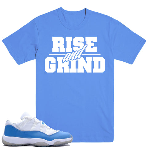 RISE GRIND- COLUMBIA BLUE 11's - DapperSam Clothing sneaker match tee