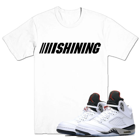 SHINING- White Cement 5 - DapperSam Clothing sneaker match tee