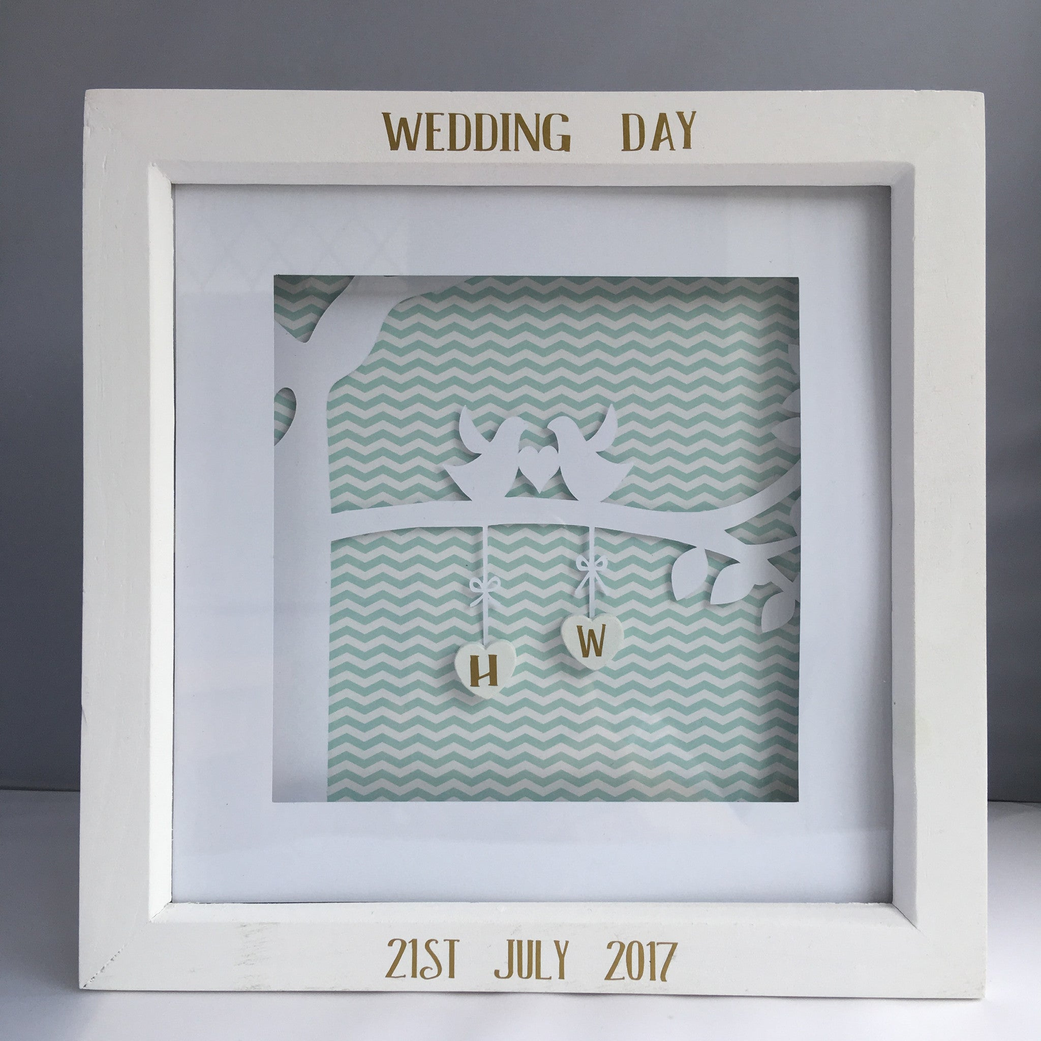 Personalised Wedding Box Frames – Unique Personal Gifts