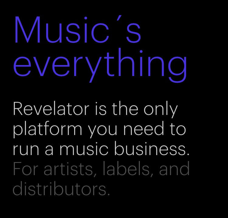 Revelator- Business platform for digital  music