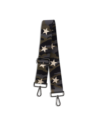 Green Camo/Rose Gold Star Handbag Strap